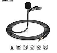 economico -remax lavalier 3,5 mm microfono live riduzione del rumore mini k microfono per conferenze