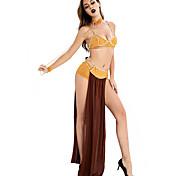 abordables -Costumes de Danse Jupes Combinaison Couleur Unie Femme Soirée Utilisation Sans Manches Tulle Fibre de Lait Soie Glacée