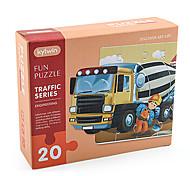 abordables -20 pcs Véhicule de Construction Puzzle Jouet Educatif Cadeau Adorable Interaction parent-enfant Papier carton Enfant Jouet Cadeau