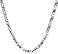 abordables -collier à maillons cubains miabella solide 5mm diamant coupe cubain lien gourmette chaîne collier pour femmes hommes, 16, 18, 20, 22, 24, 26, 30 pouces