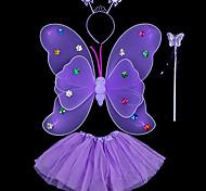 economico -4 pezzi Bambino / Bambino (1-4 anni) Da ragazza Dolce Fantasia floreale / Animali Floreale / Farfalle Pelliccia sintetica Accessori per capelli Blu / Viola / Rosso Taglia unica