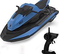 economico -barca telecomandata, barche da corsa RC ad alta velocità da 2,4 GHz in scala 1:14 per piscine e laghi, doppio motore, allarme batteria scarica, interruttore di velocità, moto d'acqua per 14+ bambini,