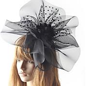 abordables -Elégant Rétro Tulle Fascinateurs avec Fleur / Pois 1 Pièce Occasion spéciale / Fête / Soirée Casque