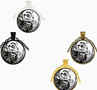 economico -Per uomo Per donna collana lunga Vetro Lega Nero Bronzo Oro Argento 70 cm Collana Gioielli 1 pc Per