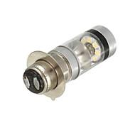 abordables -otolampara 1 pièces LED moto brouillard drl double ampoule 20smd lampe de faisceau haut / bas ampoule p15d p15d-25-1 h6m lumière blanche froide