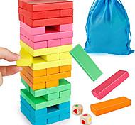 abordables -jeu d'empilage de blocs en bois avec sac de rangement renversant des blocs de construction de tour colorées équilibrage puzzles jouets apprentissage tri éducatif jeux de famille jouets montessori