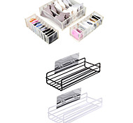 economico -Auto-adesivo / Contenitore / Multiuso Strumenti Materiale misto Contemporaneo moderno 5 pezzi - organizzazione del bagno