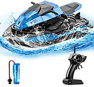 economico -moto per barche telecomandate per piscina e lago, motoscafo da 2,4 ghz per bambini con 2 batterie 40 minuti di tempo di gioco, promemoria batteria scarica, giocattolo barca rc per bambini