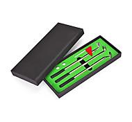 abordables -ensemble de stylo de golf mini-bureau coffret cadeau de stylo à bille de golf avec putting greenflag3& amp; 2 balles
