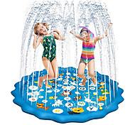 """economico -irrigatore per bambini 68"""" water pad, ocean world gonfiabile water pad irrigatore per giochi all'aperto, divertente fontana da cortile tappetino da gioco per splash play ragazze ragazzi bambini"""