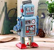 abordables -Robot Jouet à Remonter Rétro Réservoir Machine Robot Fer Forgé Le fer Rétro Vintage Rétro Unisexe Jouet Cadeau