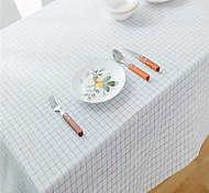 economico -Tovaglie Biancheria A prova di polvere Stile europeo Reticolo Copertura tabel Decorazioni da tavola per Da tutti i giorni rettangolo 40*60 cm Griglia sottile blu senza pizzo 1 pcs