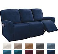 abordables -housse de canapé inclinable sectionnelle 1 ensemble de 8 pièces microfibre extensible haute élastique housse de canapé en velours de haute qualité housse de canapé pour 3 sièges coussin inclinable
