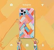 abordables -téléphone Coque Pour Apple Coque Arriere iPhone 12 Pro Max 11 SE 2020 X XR XS Max 8 7 Antichoc Motif Lignes / Vagues TPU