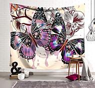 abordables -Tapisserie murale art décor couverture rideau suspendu maison chambre salon décoration polyester papillon