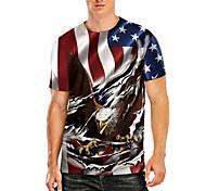 economico -Per uomo maglietta Stampa 3D Pop art Animali Taglie forti Con stampe Manica corta Quotidiano Top Essenziale Casuale Nero Rosso Grigio
