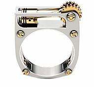 economico -rubyyouhe8 anello di gioielli con anello di barretta di moda& punk uomo donna ingranaggio meccanico fascia geometrica anello di barretta regalo gioielli per feste per riunioni di feste incontri