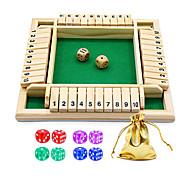 abordables -fermez la boîte jeu de dés jeu de société en bois un jeu de maths familial classique à 4 faces avec 10 dés pour enfants adultes 2-4 joueurs