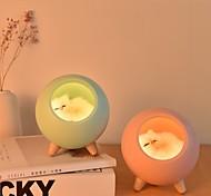 abordables -LED lampe de nuit décorer la lumière de bureau batterie de rêve chat vacances créatif ampoule rechargeable pour bébé dedroom luminar