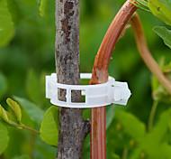 economico -50 pezzi riutilizzabili clip di supporto per piante in plastica da 25 mm morsetti per piante appese a vite da giardino ortaggi a serra pomodori