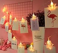 economico -1,5 m 3M Fili luminosi 10/20 LED 1 set Bianco caldo Multicolore Natale Capodanno Feste Vacanze Stella Batterie AA alimentate