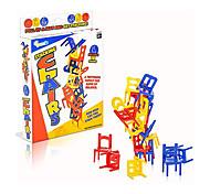 abordables -jeu de chaise d'équilibrage 2 jeux de chaise empilable avec 18 mini chaises& amp; guide d'instructions nouveau jeu de famille jeux de nuit pour le développement des enfants jeu d'apprentissage