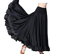 abordables -Danse de Salon Costumes de Danse Jupes Couleur Unie Femme Utilisation Usage quotidien Polyester Polyster