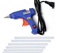 economico -110-240 v pistola per colla hot melt mini pistola termica strumento di temperatura del calore elettrico fai da te pistola per colla set di riparazione con 6 stick di colla