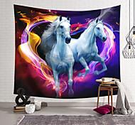 abordables -Tapisserie murale art décor couverture rideau suspendu maison chambre salon coloré polyester cheval