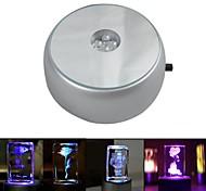 abordables -base lumineuse lumière cristal verre objets transparents affichage laser base ronde colorée pour cocktail