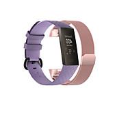 economico -Cinturino intelligente per Fitbit 2 pezzi Cinturino sportivo Banda di affari Acciaio inossidabile Silicone Sostituzione Custodia con cinturino a strappo per Fitbit Charge 3