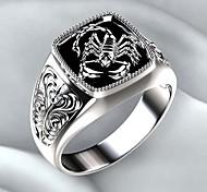 economico -anello da uomo retrò fatto a mano in argento sterling 925 da motociclista gotico scorpione speciale (12.25)