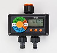 economico -doppio quattro uscite irrigazione irrigazione timer giardinaggio automatico circolazione elettrovalvola strumento di irrigazione controller