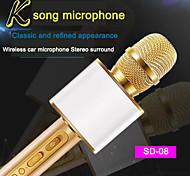abordables -sd-08 microphone sans fil bluetooth haut-parleur portable portable lecteur ktv à la maison
