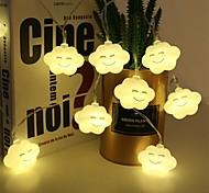 economico -1,5 m 3M Fili luminosi 10/20 LED 1 set Bianco caldo Multicolore Natale Capodanno Romantico Feste Decorativo Batterie AA alimentate