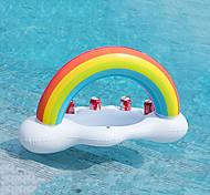 economico -portabottiglie nuvola arcobaleno gonfiabile insalata di bevande galleggianti servizio di frutta bar piscina accessori per feste galleggianti portabottiglie tazza per il tempo libero spiaggia estiva