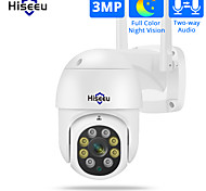 economico -Hiseeu WHD303 3 mp Videocamera IP All'aperto Supporto 128 GB / CMOS / 50 / Indirizzo IP statico  / SO iPhone