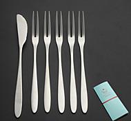 abordables -contemporain / Ordinaire Acier Inoxydable Fourchettes, Haute qualité 6 pièces