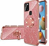 economico -telefono Custodia Per Samsung Galaxy Per retro Silicone A91 / M80S A51 Galaxy A81 / M60S Galaxy A71 A21s Con diamantini Con supporto Supporto ad anello Glitterato TPU