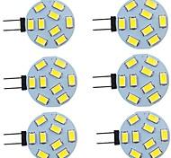 economico -6 pz 2 W Luci LED Bi-pin 260 lm G4 9 Perline LED SMD 5730 Bianco caldo Bianco 9-30 V