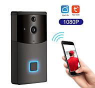 abordables -Tuya smart wifi sonnette interphone anti-pluie détecteur de mouvement pir caméra de sécurité de vision nocturne