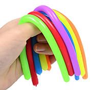 abordables -5 pcs Enfants Adulte Jouet De Décompression Nouilles Lumineuses Stretch String TPR Corde Anti Stress Jouets String Fidget Autisme Vent Jouets
