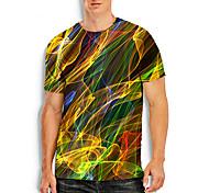 abordables -Homme T-shirt Graphique 3D Flamme Grandes Tailles Manches Courtes Quotidien Hauts basique Violet Rouge Jaune