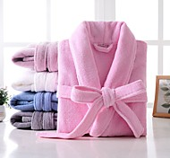 abordables -Qualité supérieure Peignoir, Couleur Pleine Pur coton Chambre à coucher / Salle de  Bain 1 pcs