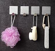 economico -gancio in acciaio inossidabile gancio singolo gancio adesivo senza chiodi gancio da bagno quadrato in metallo punzonato gratuito