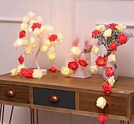 economico -3M 6m Fili luminosi 20/40 LED 1 set Bianco caldo Natale Capodanno Feste Decorativo Vacanze Alimentazione USB Batterie AA alimentate