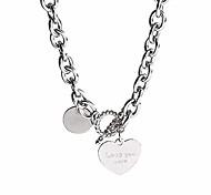 economico -collana girocollo in pelle, collari collana girocollo punk rock gotico a forma di cuore (collana cuore)