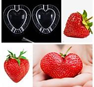 abordables -Moule de plus en plus en forme de coeur forme de fruits outil en plastique de jardin de légumes moule de pomme