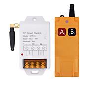 economico -Interruttore di controllo remoto a canale singolo dc 12v / relè ad alta potenza 30a / telecomando a lunga distanza / modalità interblocco a on b off 433m