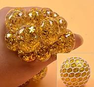 abordables -1 pcs Anti-Stress Squeeze Boules De Raisin Soulager Les Boules De Pression Main Fidget Jouet Arc-en-ciel Novetly Squeeze Ball Mesh Squishy Balls